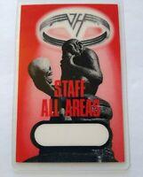 Van Halen OU812 Tour Backstage Pass Monkey With Skull Staff Original 1988 Eddie