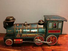1960's VINTAGE MODERN TOYS TIN LITHO WESTERN TOY TRAIN BATTERY OPERATED JAPAN