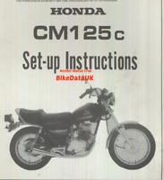 Honda CM125C Twin (1982-1985) Genuine PDI Set-Up Manual JC05 CM 125 Custom CC44
