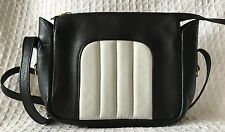 JAS M.B LONDON Black Leather Crossbody Purse Bag-NEAR MINT