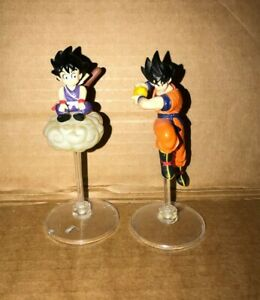 2 DRAGONBALL Z FIGURES - WITH STANDS  - ANIME - GOOD CONDITION - GOKU