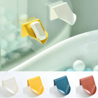Self Adhesive Soap Dish Holder Wall Mounted Plate Rack Bathroom Shower Kitchen