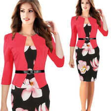 Women Office Bodycon Work Formal Party Cocktail Slim Tunic Pencil Dress Suits