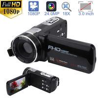 Full HD 1080P 3in Camcorder 24.0MP 18X Zoom Video Digital DV Camera Night Vision