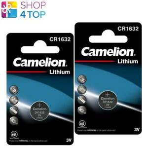 2 CAMELION CR1632 BATTERIES LITHIUM 3V COIN CELL DL1632 1BL EXP 2028 NEW