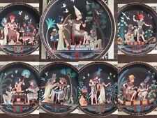"Choice Osiris Porcelain ""Legend of Tutankhamun"" Collector's Plates w/ Box & Coa"