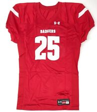 New Under Armour Wisconsin Badgers Football Jersey Men s Large Mesh Red  25 b8e610b33