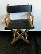 Rare Vintage Miniature Directors Chair Black Brass Beautiful! Wow!