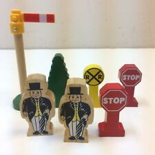 Lot of 7‼ Thomas Train Wooden Railway Topham Tree Stop RR Crossing Sign Parts