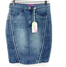 Sugar Magnolia Stretch Denim Pencil Jean Skirt Juniors 9 Above Knee NWT