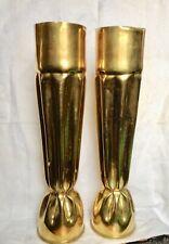 Ww1 1914-18 Set Of 2 Large Trench Art Vases 1918
