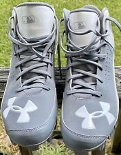 Under Armour Shoes Rubber Cleats Gray/White Size 12 Authentic Collection*MENS*