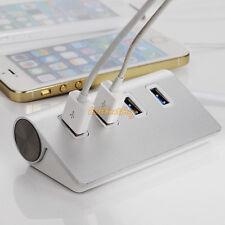 4 Ports USB 3.0 Hub Portable Aluminum Hub f Mac iMac Mac book pro air PC Laptop