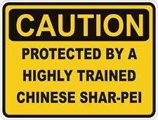 Raza de perro chino Shar-Pei precaución Pegatina Mascota para Coche de Parachoques Puerta Locker