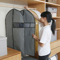 Garment Dust Cover Non-woven Coat Suit Protect Storage Bag Wardrobe Organizer