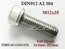 10x DIN912 M12x35 A2 304 Stainless Steel Allen Bolt Hex socket head cap screw