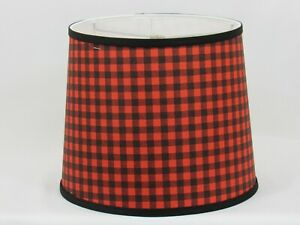 """Albert Estate LTD, Red and Black Buffalo Plaid Shade, 14"""" Washer Fitter"""