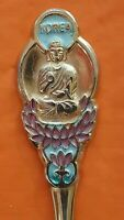 KOREA EAST ASIA PENINSULA 3D 18K GOLD FILLED SOUVENIR ENAMEL DECORATED TEA SPOON