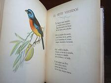 UCCELLI - Juan Burghi : PAJAROS NUESTROS Poemas - Buenos Aires 1949  100 es.
