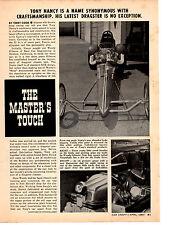 1967 TOP FUEL DRAG RACING  - TONY NANCY  ~  NICE ORIGINAL 3-PAGE ARTICLE / AD