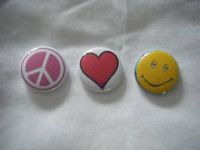 Peace/Love/Stoney Pin set  (pink peace)