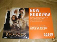 LOTR THE TWO TOWERS RARE CINEMA POSTCARD - 2002