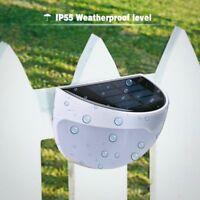 Solar Power Light Sensor 6leds Panel Lamp White Outdoor Wall Garden Waterproof R