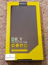Rock DR.V Smart Protective Invisible Window Case For Samsung Galaxy Note 4 Black