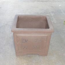 """Square Zisha Etched Bonsai Pot Cascade Dwarf Planter Orchid 5""""x4.5"""""""