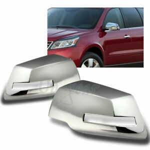 For 2007-2016 GMC Acadia Chrome ABS Plastic Side View Mirror Cover Cap 2PCS