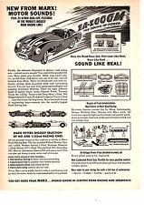 1964 MARX ELECTRIC ROAD RACING  ~  NICE ORIGINAL PRINT AD