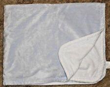 Pottery Barn Kids Baby Blanket Solid Blue White Zig Zag Stitch Soft