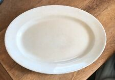 Royal Premium T & R Boote White English Ironstone Platter Plain Oval Farmhouse