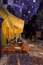 Cafe Terrace at Night Vincent Van Gogh Poster Art Print 24x36 inch