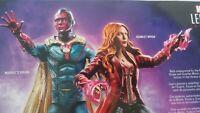 "MINT Vision Scarlet Witch 6"" Figure Marvel Legends Wandavision 2 Pack Toys R Us"