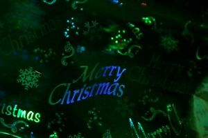 GREEN/SILVER HOLOGRAM (REVERSABLE) CHRISTMAS FOIL WRAP-NOT SOLD IN STORES~9 FEET