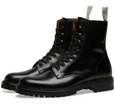 New Common Projects Standard Lug Sole Combat Boot black Leather Size 13 US $635