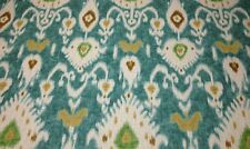 "BALLARD DESIGNS BALBOA IKAT TURQUOISE MEDITERRANEAN IKAT FABRIC BY THE YARD 54""W"