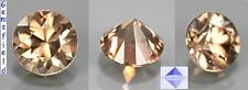 IF !! 0.62ct !! ZIRCON NATUREL de TANZANIE - CHAMPAGNE OR - poli AAA++