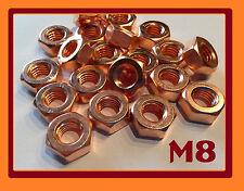 14 Stück, Kupfermutter M8
