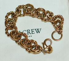 J.Crew Bracelet Gold Link Rope Twisted Modern Chunky Nautical Charm