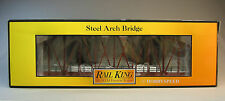 MTH REALTRAX 1 TRACK STEEL ARCH SINGLE BRIDGE RUSTED o gauge train rust 40-1103