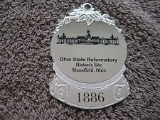 Mansfield Prison Ohio State Reformatory Holiday Guard Badge Silver Ornament HTF