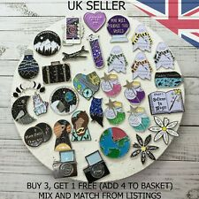 UK SELLER Fashion Enamel Pin Badge Brooch Metal Pins | Designed in the UK