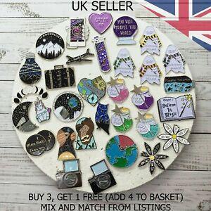 UK SELLER Fashion Enamel Pin Badge Brooch Metal Pins   Designed in the UK