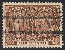 Canada 6c QV Diamond Jubilee, Scott 55, VF used, catalogue - $250