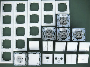 GIRA System 55 Schalter Steckdosen Schalter E2 Rahmen Reinweiß Glänzend wählbar