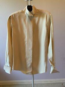 Linda Allard for Ellen Tracy beige Blouse SZ 2