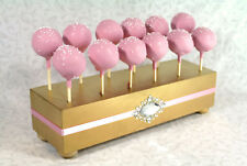 Gold Cake Pop Stand, Wedding Cake Pop Holder, Cake Pop Stand, Gold & Pink,