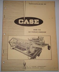Case 1140 Self Propelled Windrower Mower Conditioner Parts Catalog Manual book